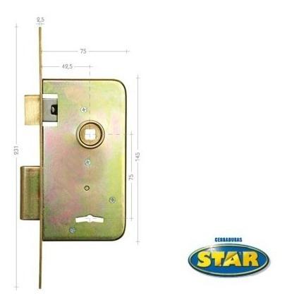 cerradura star 603 hierro zincado /5 años de garantía/