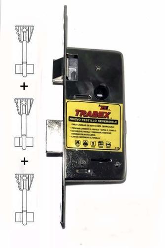 cerraduras doble paleta trabex modelo 6624 con 3 llaves