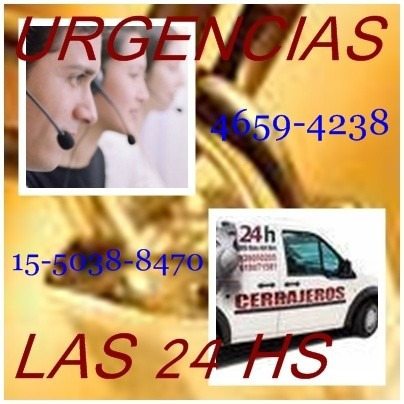 **cerrajeria 24 hs, urgencias a domicilio ,4659-4238**