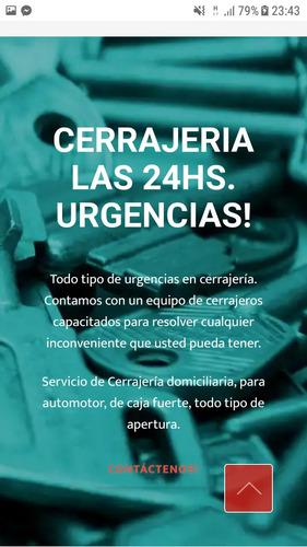 cerrajeria 24 hs. urgencias ,visitas en el acto