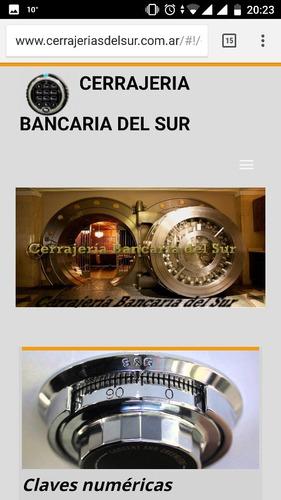 cerrajeria bancaria tesoros cajas fuertes claves numericas