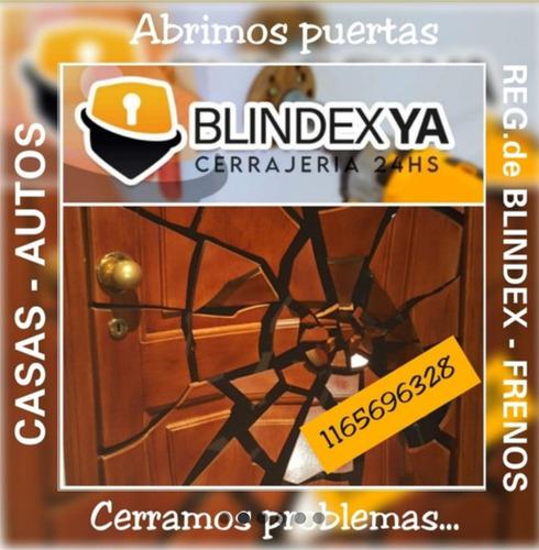cerrajero 24 hs, puertas blindex  autos - 1165696328 -