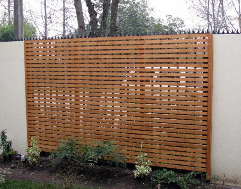 Cerramiento cerca madera paredes corta viento oculta - Paredes de patios decoradas ...