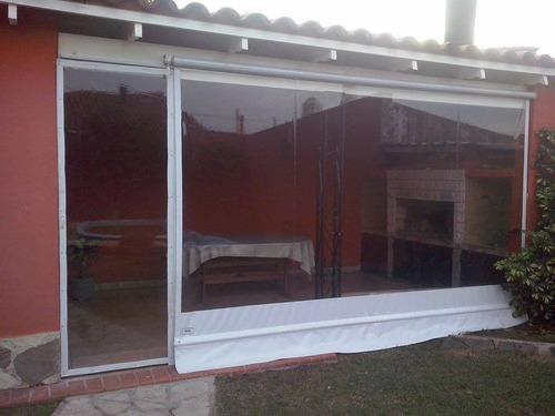 cerramiento de lona cristal transparente quinchos  balcon