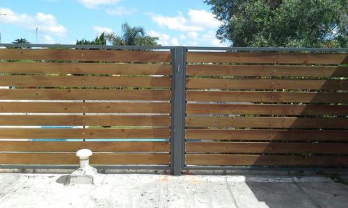 cerramiento oferta! hierro y madera por m2
