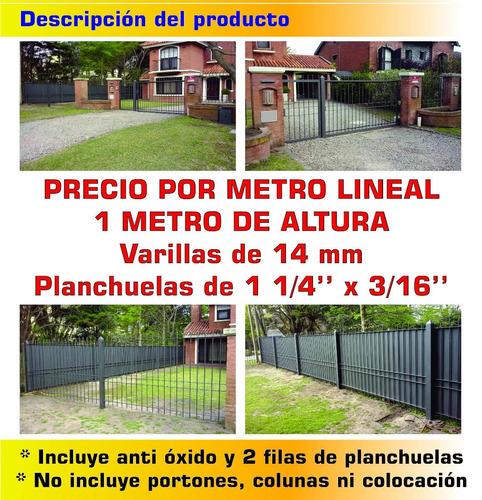 cerramiento perimetral 14 mm 1 metro de altura reja oferta