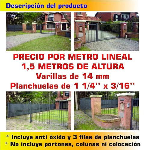 cerramiento perimetral 14 mm 1,5 metros de altura oferta