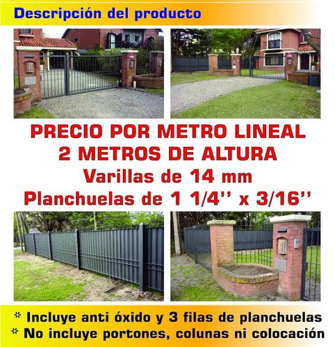 cerramiento perimetral 14 mm 2 metros de altura reja oferta