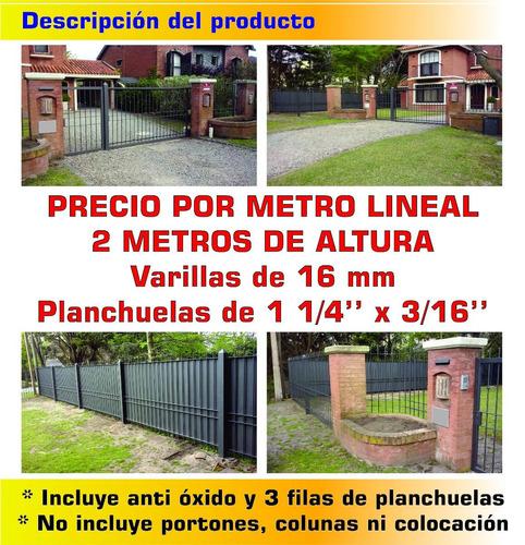 cerramiento perimetral 16 mm 2 metros de altura rejas oferta