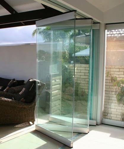 cerramiento- vidrios plegables/ sistema de apertura y cierre