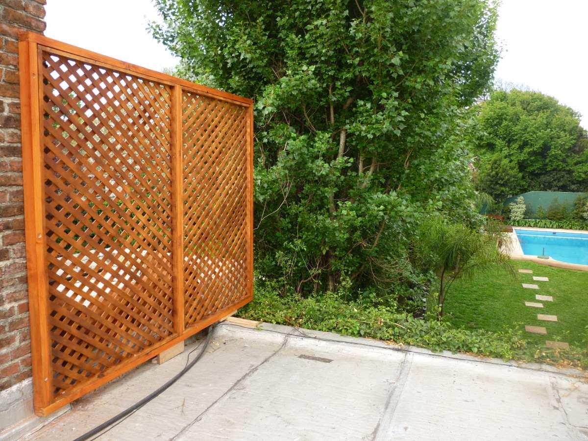 Cerramientos cercas cercos perimetrales madera treillage en mercado libre - Cierres de jardin ...