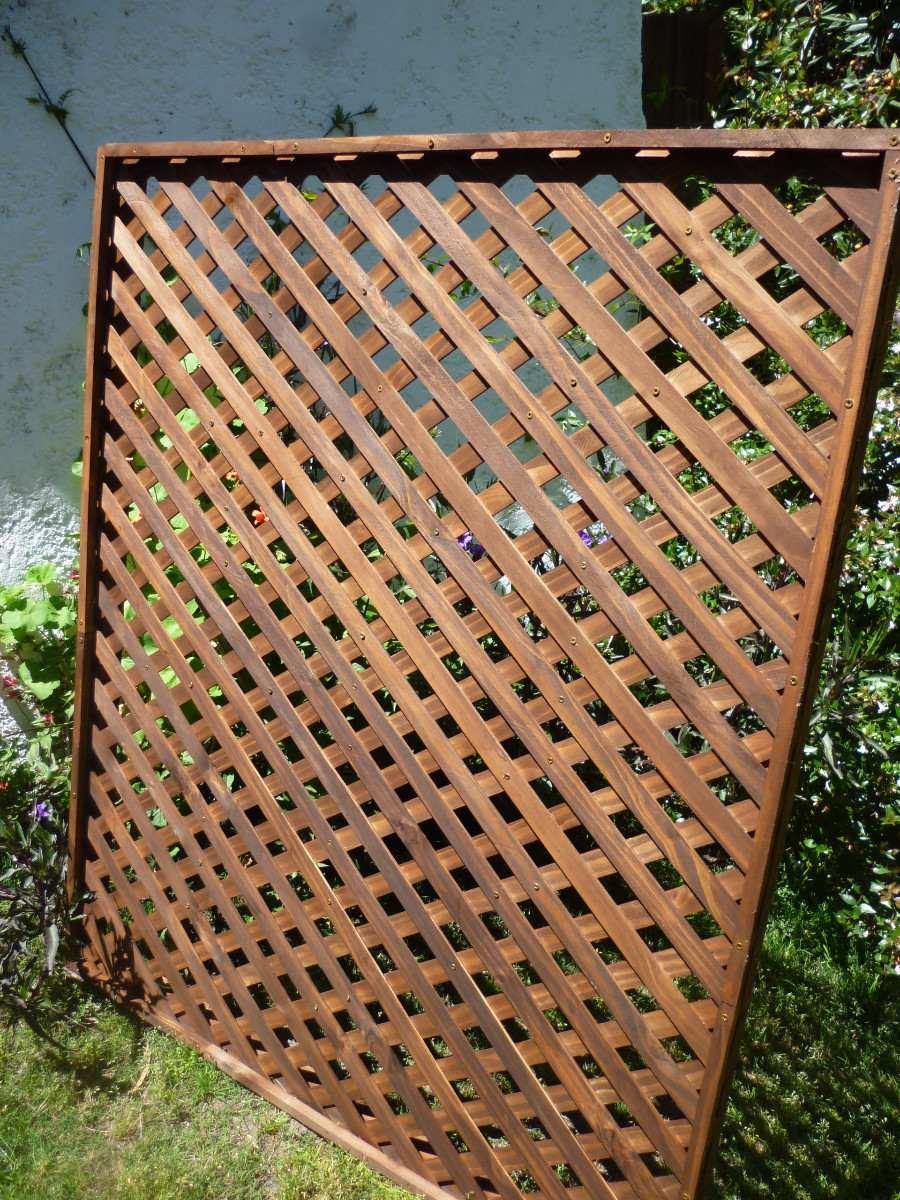 Cerramientos cercas cercos perimetrales madera treillage - Maderas para jardin ...