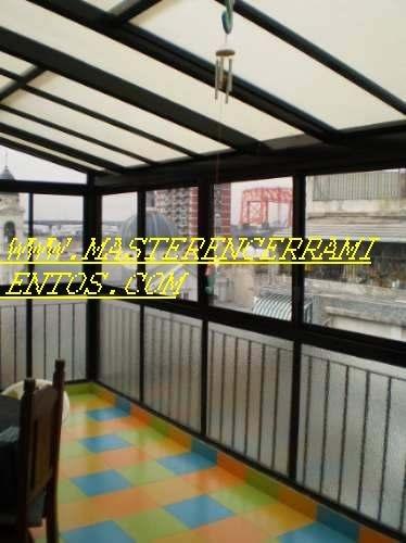 cerramientos de aluminio, techos corredizos traslucidos