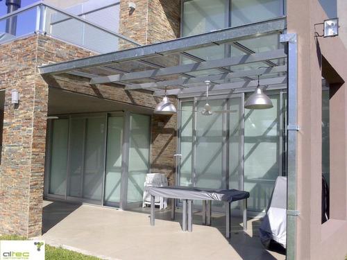 cerramientos de aluminio - techos de vidrio - linea modena