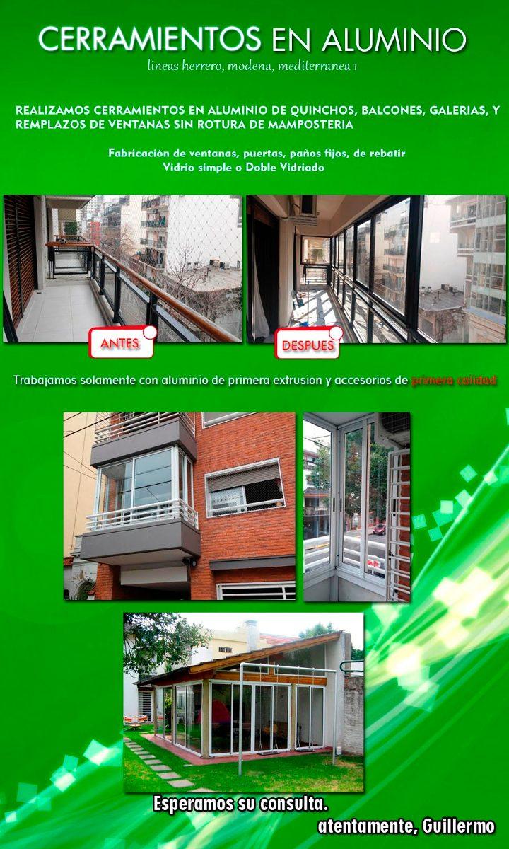 Cerramientos de balcones galerias quinchos 700 en for Cerramientos de balcones