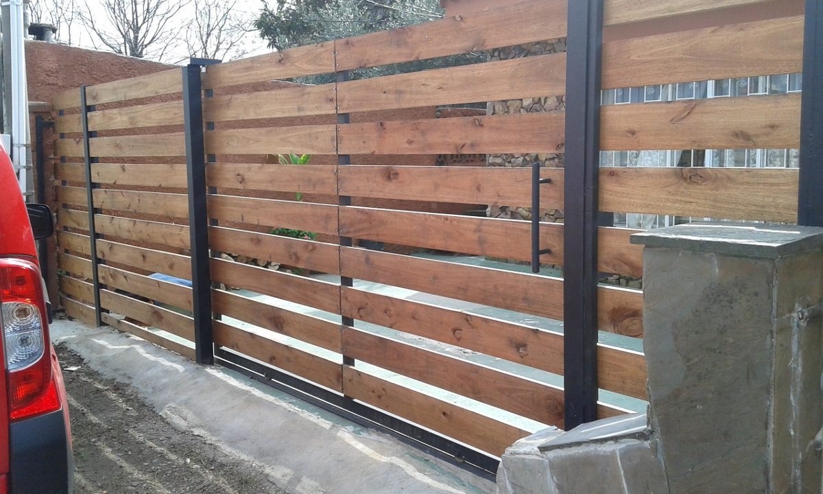 Cerramientos perimetrales madera tejido portones etc - Cerramientos de madera ...