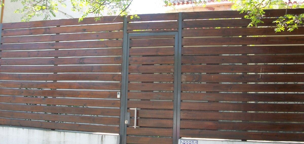 Cerramientos perimetrales madera tejido portones - Cerramientos en madera ...
