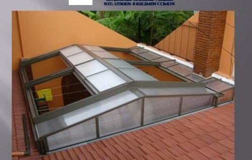 cerramientos techos corredizos vidriados policarbonatos