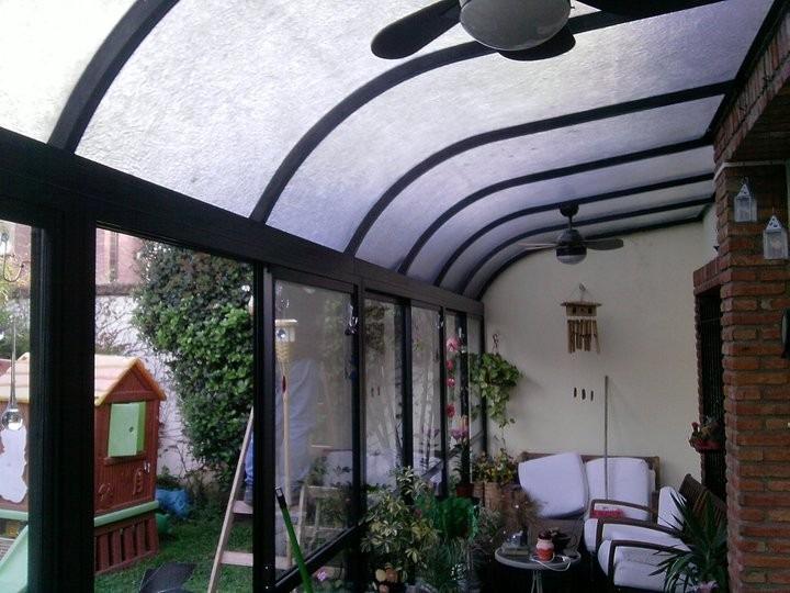 Cerramientos techos corredizos vidriados policarbonatos - Cerramientos de aluminio para porches ...