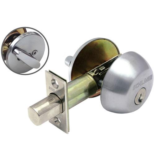 cerrojo de seguridad mate b360 cilindro volteador schlage