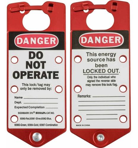 cerrojo para bloqueo danger do not operate  65960 brady