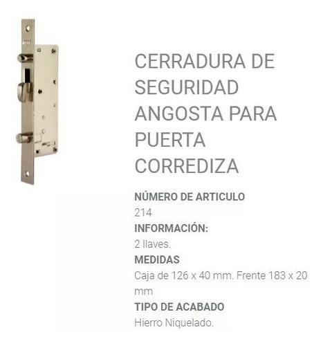 cerrojo prive 214 puertas corredizas atención con 3 llaves