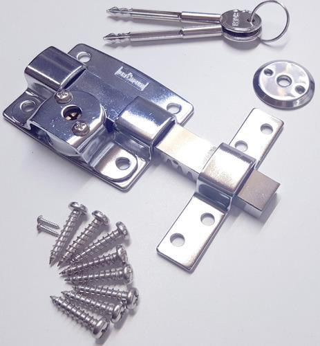 cerrojo seguridad llave cruz pasador x 2 unid calidad excel.