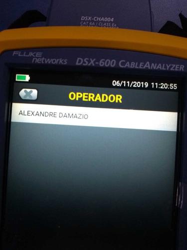 certificaçao de rede fluke dsx 8000 5,00