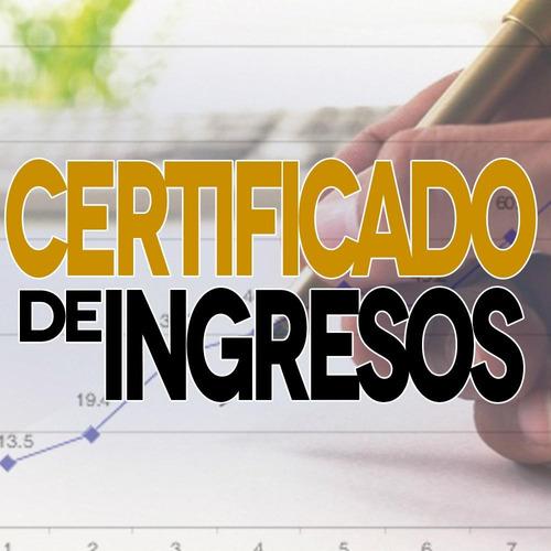 certificacion de ingreso, balance personal