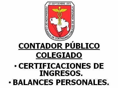 certificación de ingresos, balance personal - cagua