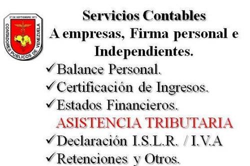 certificación de ingresos, balances, impuestos, contabilidad