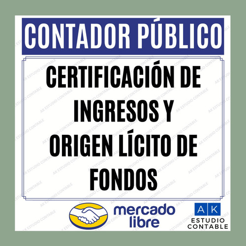 certificación de ingresos - contador público matriculado