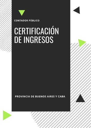 certificación de ingresos - de licitud de origen de fondos