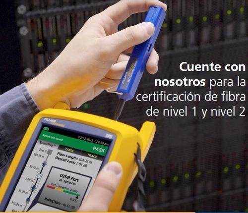certificacion de redes utp voz y data fibra optica otdr
