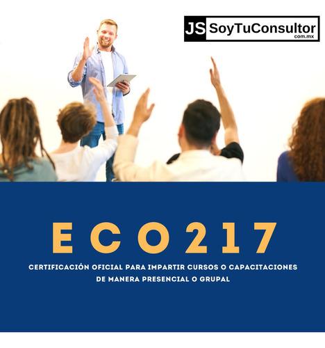 certificación ec0217, para capacitadores e instructores