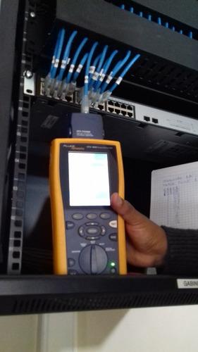 certificacion puntos de red cat5e,6,6a,7,7a fluke dsx8000
