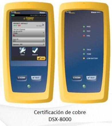 certificación puntos de red-precio por punto  fluke dsx8000