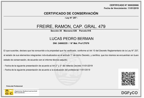 certificaciones ley 257 - informes tecnicos