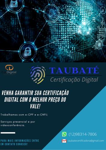 certificação digital e-cpf  promoção