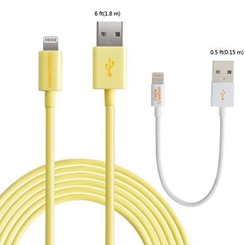 [certificado de apple mfi] cablecreation (paquete de 2)...
