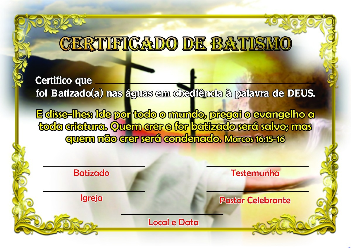 certificado de batismo - Ideal.vistalist.co