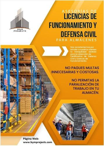 certificado de defensa civil para almacenes