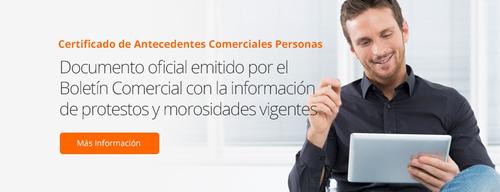certificado de informes comerciales ( dicom )