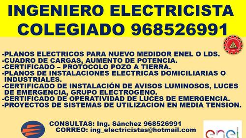 certificado de instalación avisos luminosos,ing electricista