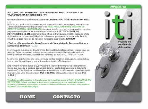 certificado de no retencion iti en 24 hs. / coti