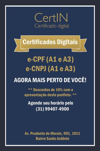 certificado digital a1 e a3