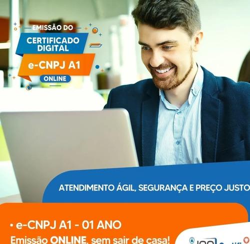 certificado digital a1 e-cnpj + e- cpf