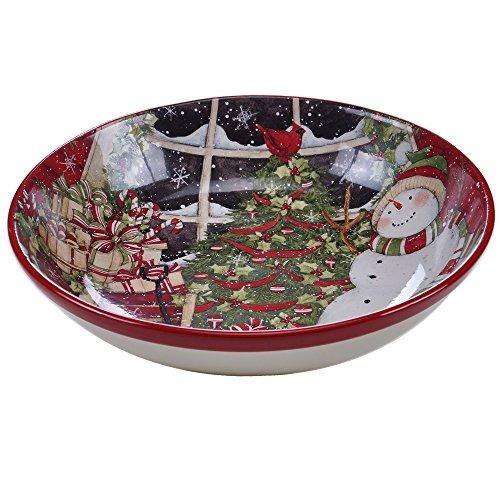 certificado internacional snowmans sleigh servingpasta bowl