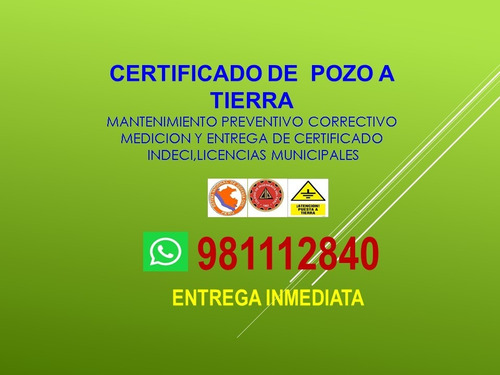certificado pozo tierra-protocolo-instalación-mantenimiento