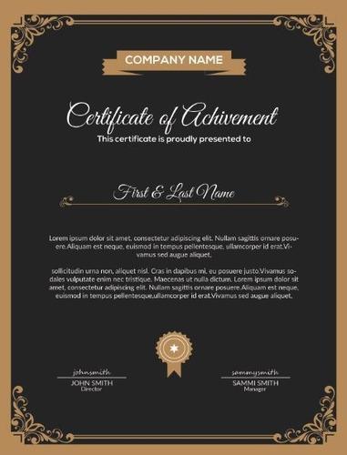 certificados editáveis para photoshop (psd) certificados psd